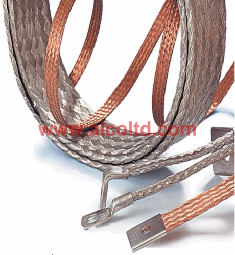 CLASSIC CAR BATTERY EARTH STRAP LEAD Tinned Copper Braid FREE DELIVERY PK X 2