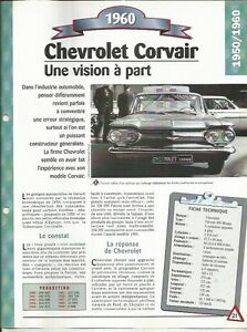 FICHE AUTOMOBILE - CHEVROLET CORVAIR 1960