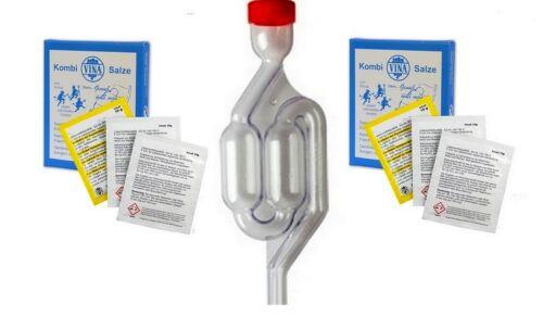 Pulver f Kombisalze Sperrflüssigkeit für Gäraufsatz 60 gr f 1l Wasser