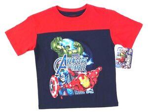 Marvel Avengers Boys Short Sleeve Cotton T-Shirt  NWT Blue Size 7 or M 10//12