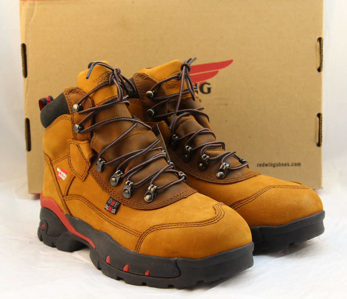 "NIB RED WING 2691 Size 7.5 M Safety Toe EH Women's 6"" Work Boots RETAIL $189"