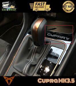 Eaziwrap-Seat-Leon-MK3-5-Cupra-Gearbox-Decal-Vinyl-Sticker-COPPER-or-Satin-Black