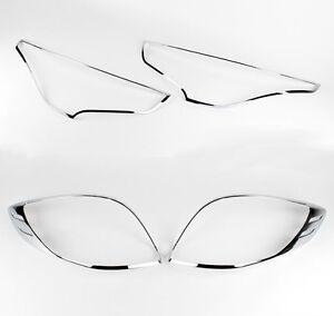 Chrome-Head-Tail-Light-Molding-Trim-For-2011-2016-Hyundai-Veloster-amp-Turbo