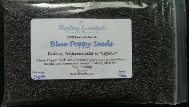 Blue Poppy seeds - Cosmetic Grade - High Quality Botanicals/ Soap Making