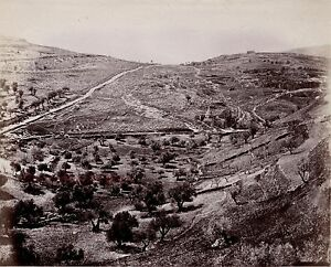 Gerusalemme Israele Palestina Foto Albumina Stampa Verso 1890 Piccolo