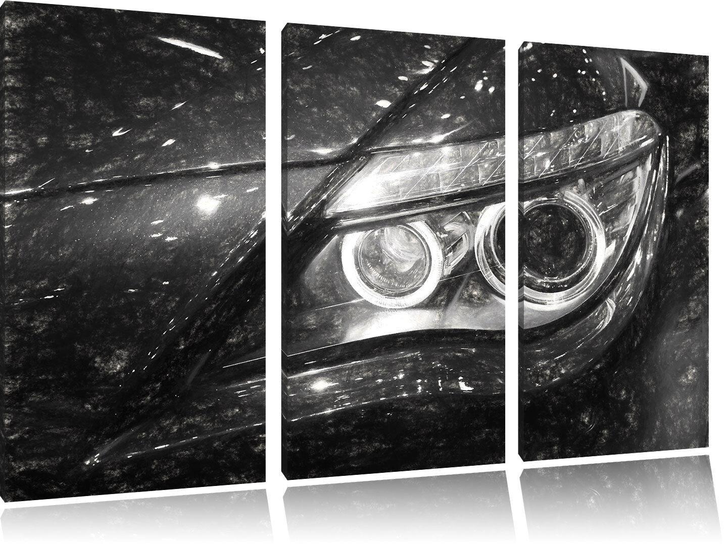 BMW Angel Eyes Carbone Effetto 3-Teiler Quadro su Tel Decorazione Parete