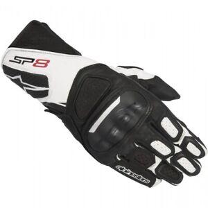 Alpinestars Sp 8 V2 Black White Motorcycle Gloves Ebay
