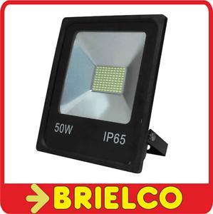 FOCO PROYECTOR LAMPARA LED 50W 220V SOPORTE ORIENTABLE 290X237X65MM NEGRO BD8938