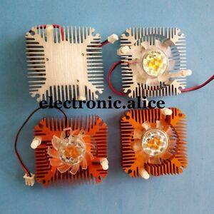 5pcs 5W 10W Power Heatsink with Fan Aluminium Cooler DC12V For 5W 10W Led