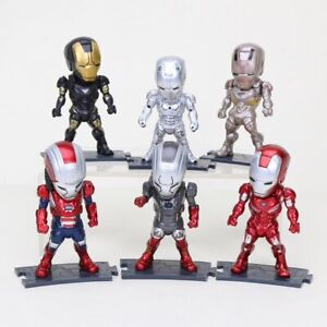 LOT-E-6-MINI-FIGURINES-MARVEL-AVENGERS-INFINITY-WAR-IRON-MAN