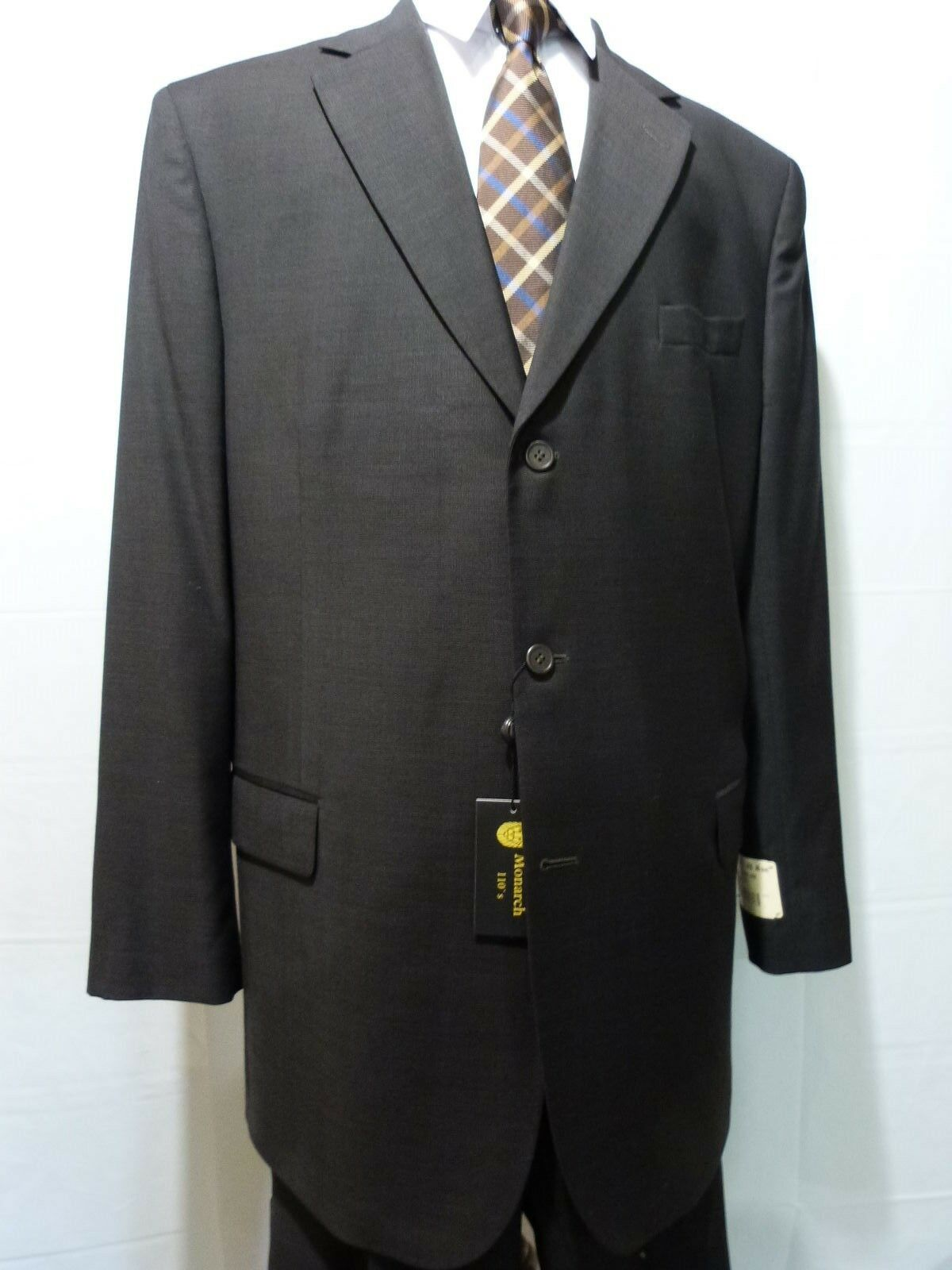 Men's Suit, 46 X-Long, 100% Wool, Brown,NWT