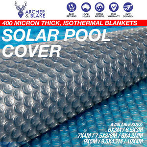 Details about Solar Swimming Pool Cover 400 Micron Outdoor Bubble Blanket  Thermal