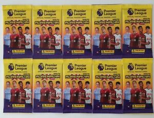 2020-21-PANINI-Adrenalyn-EPL-Soccer-10-Packets-60-cards-10-codes