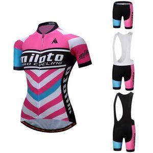 Pink Cycling Jersey Short Sleeve Padded (Bib) Shorts Women s Cycle ... b0c85bb83