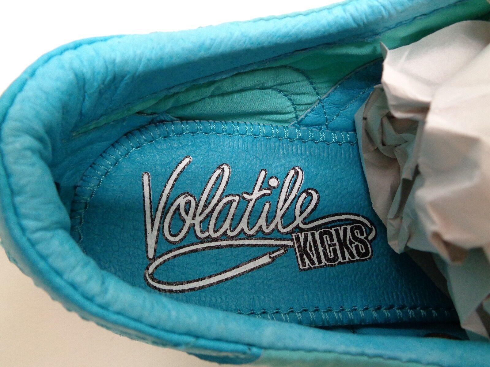 Volatile Kicks Größe 7 BANGIN Turquoise Leder Sneakers NEU Damenschuhe Schuhes