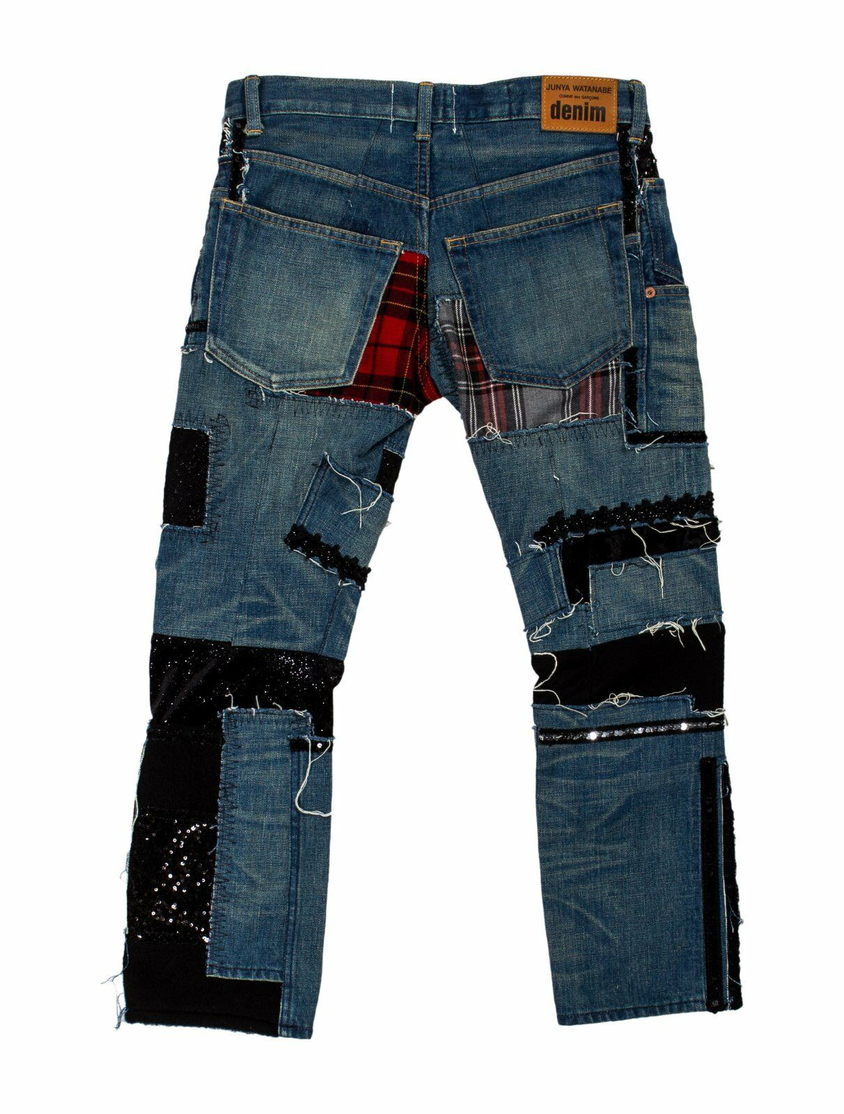 CRAZY COOL, SOLD OUT  1,165 DISTRESSED PATCHWORK JUNYA WATANABE JEANS (NWT)