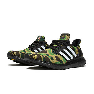 popular stores on feet images of huge selection of Dettagli su BAPE X adidas Consortium A Bathing Ape Superbowl UltraBOOST 4.0  Green Camo