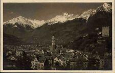 Merano Meran Italien Südtirol AK 1924 Panorama di Merano Gesamtansicht Kirchturm
