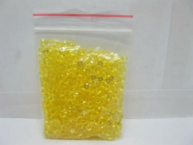 1000 Yellow Diamond Confetti 6mm Wedding Table Scatter