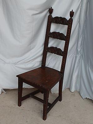 Prime Antique Oak Vanity Or Desk Chair Highly Carved Fancy Ebay Ibusinesslaw Wood Chair Design Ideas Ibusinesslaworg