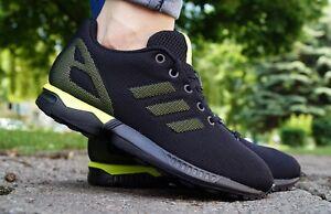 Scarpe-NUOVO-Adidas-Zx-Flux-K-Scarpe-da-ginnastica-donna-SPORT-NERO-s74953-SALE