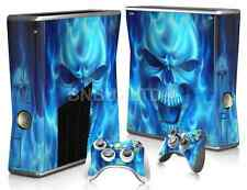 Blue Skull Skin Sticker For XBOX 360 Slim Console Controller Decal Vinyl
