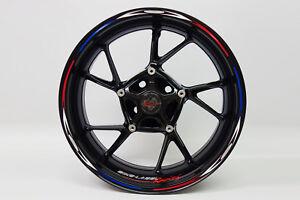 """LISERET AUTOCOLLANT 710015 Rim réparti Racing Red Blue Pour 16"""" 17"""" 18"""" Pouces  </span>"""