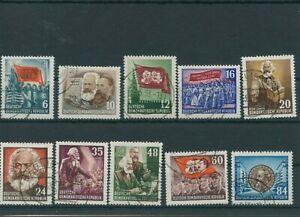 Germany-GDR-vintage-yearset-1953-Mi-344-353-Postmarked-Used-More-Sh-Shop