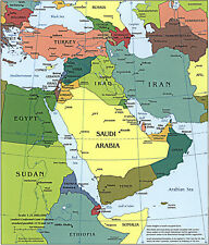 MAP POLITICAL CIA 1991 PERU OLD HISTORIC LARGE REPLICA POSTER PRINT PAM1416