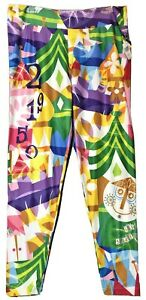 Disney-Parks-Womens-It-039-s-a-Small-World-Colorful-Leggings-Size-XL-New