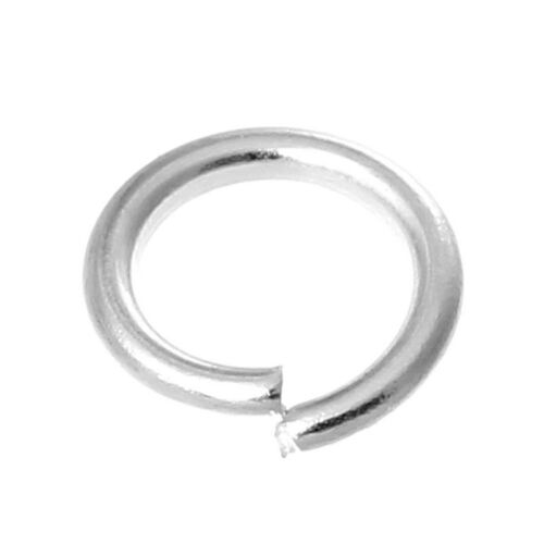 50 pcs Silver plated Open Jump Ring Connector 6 x1mm jewelry findings DIY