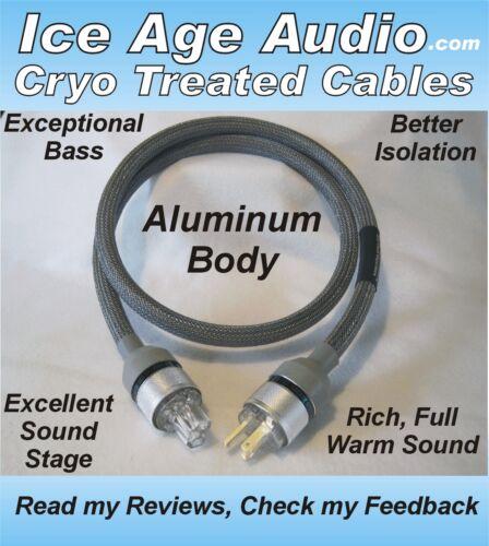 IEC Silver 5ft-10 Gauge Cryo Treated Aluminum Body Power Cord Audiophile