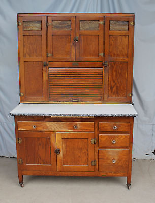 Antique Sellers Oak Kitchen Cabinet Hoosier Style 48