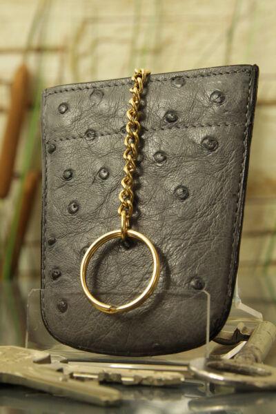 """""""artiglio"""" Astuccio Chiave, Gli Struzzi-pelle. Key Case, Ostrich-skin, New! ü3031-. Key Case, Ostrich-skin, New! ü3031"""
