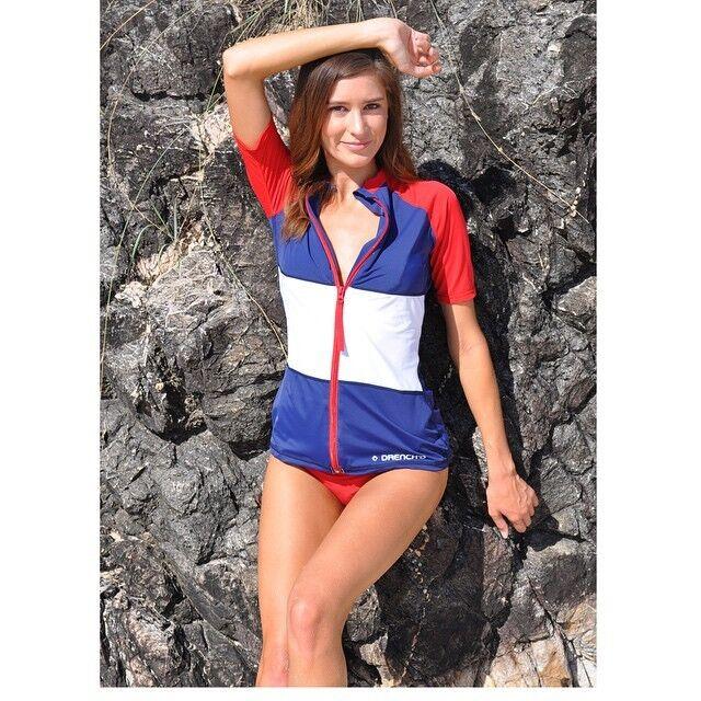 New Ladies Rashie Rash Vest Top Swim Wet Shirt (XS S M L XL 2XL) UPF50 womens