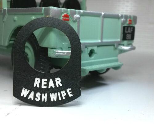 Land Rover Série 1 2 2a 2b métal commutateur onglet badge decal étiquette arrière laver essuyer