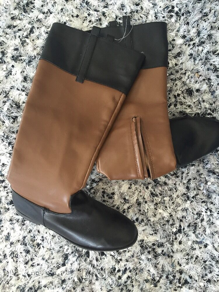 New Victoria Secret Riding Boots Size 6.5B Brown And Black Stylish