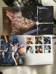 Star wars 40th anniversary Royal mail six stamps first day cover