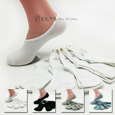5 10 Pairs Mens Loafer Boat Socks Invisible No Show Cotton Socks Low Cut Liner