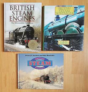 3 Railway Books British Steam Steam Revival Steam Nostalgia Hardback