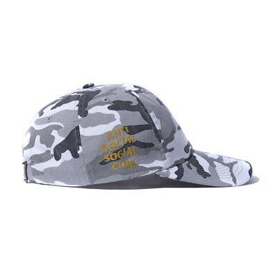 Anti Social Social Club ASSC Logo 50 Degrees Snow Camo Cap Hat