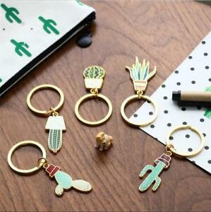 Cute-Plant-Cactus-Green-Charm-Car-KeyChain-Key-Ring-Chain-Ring-Gift-Accessories