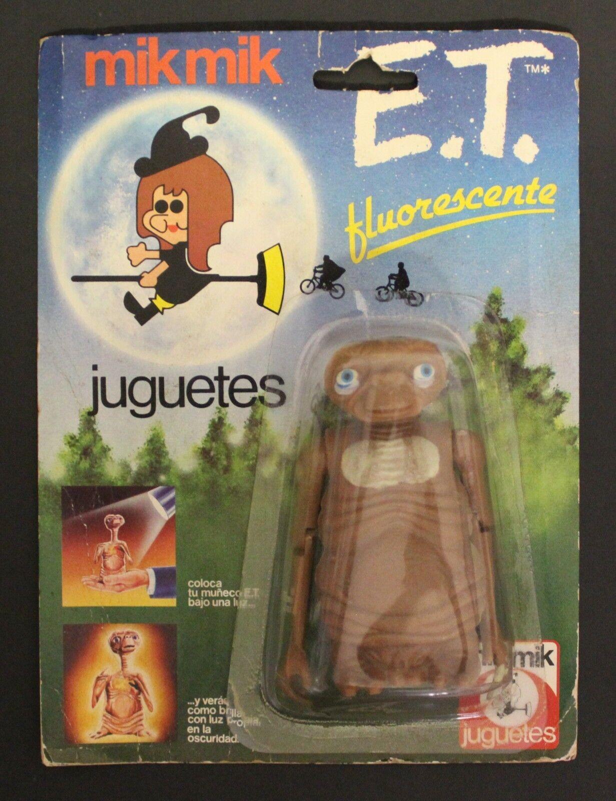 1980's Mik Mik ET   E.T. THE EXTRATERRESTRIAL Spanish vintage action figure VHTF
