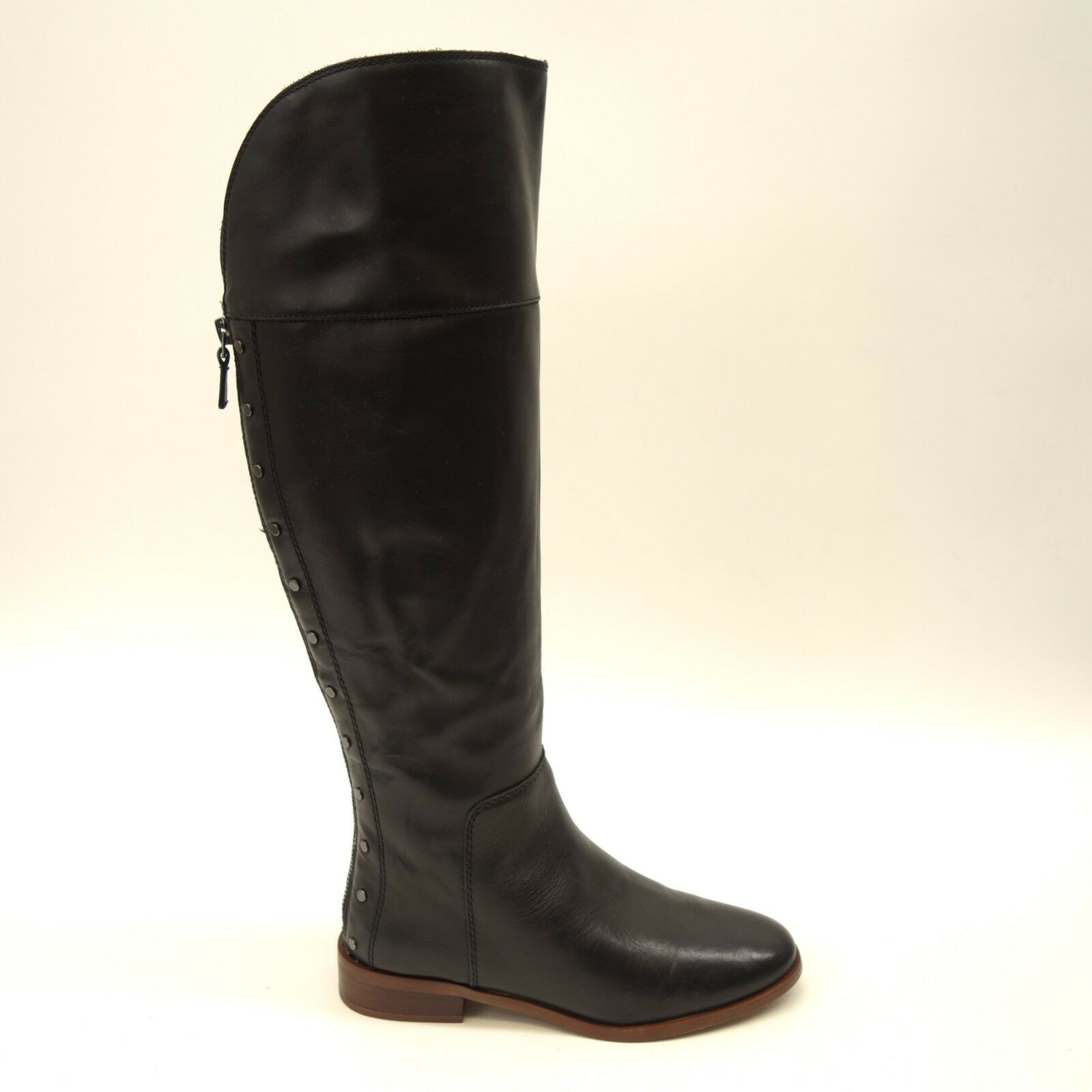 New Franco Sarto pinklle Black Leather Tall Boots Size US 13