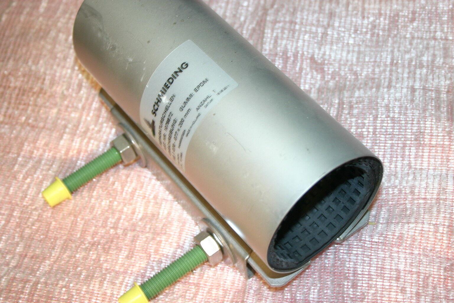 Reparaturschelle Edelstahl Rohrdurchm.70-77 mm Baulänge 200mm Dichtschelle