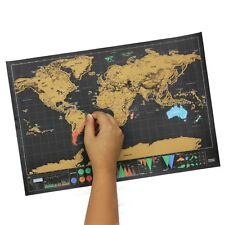 Black Scratch Map Deluxe Maps Travelwr Scratch Off World School Office Gifts