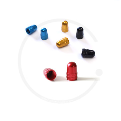 2 Stück MTB Ventilkappen Alu rot eloxiertfür Autoventil AV