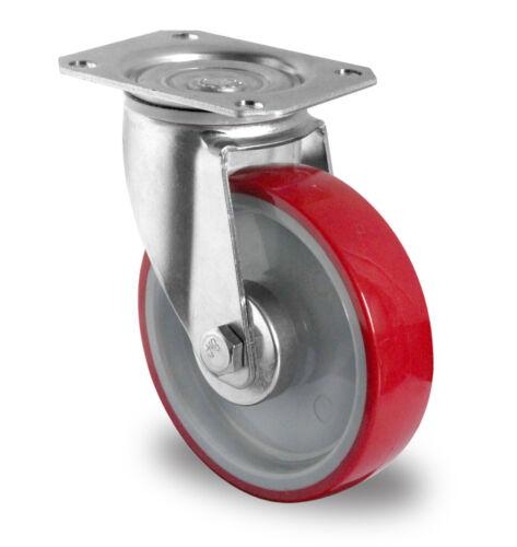Jeu de transport roulettes 200 mm polyuréthane pneumatiques tk 300 kg lenkrolle bockrolle