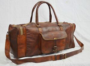 sac de Large voyage hommes Travel avec Vintage spatialMen's de Grand Space cuir Clothing Leather po voyage Luggage sac Genuine 25 Duffle véritable vintage pour Bag de en Qrsdth