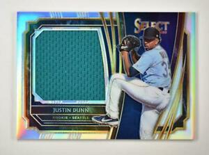2020 Select Rookie Jumbo Swatch Holo #RJS-JD Justin Dunn /250 - Seattle Mariners